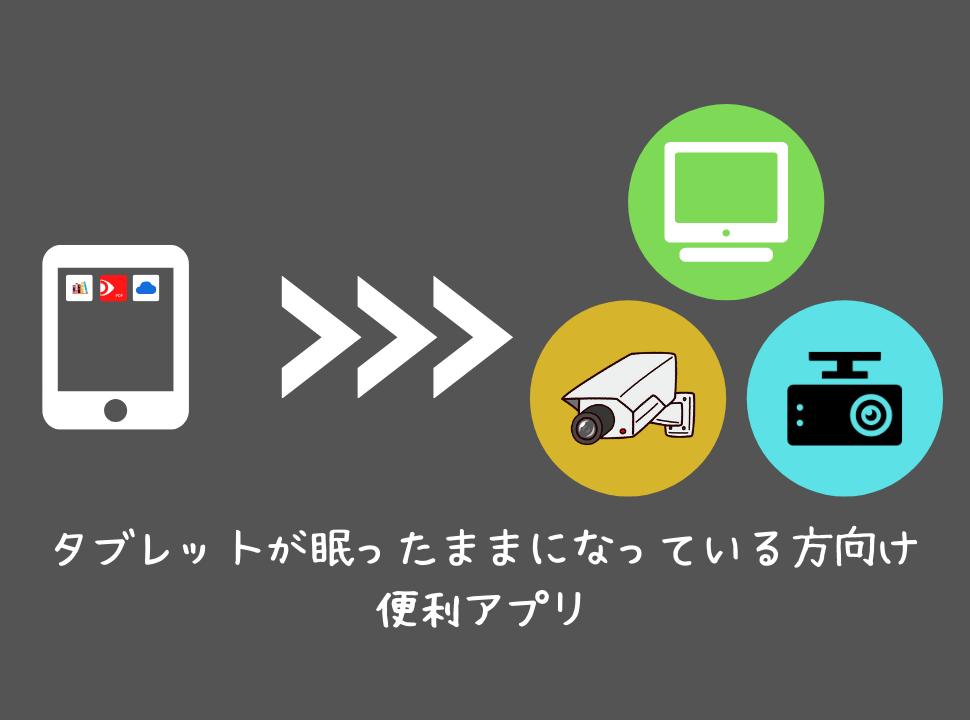 タブレットが眠ったままになっている方向け|便利アプリ